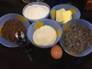 The Basic Ingredients for Chocolate Chip Cookies