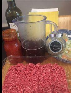 Ingredients for Lasagne & Bechamel sauce